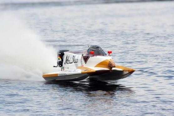 Grand Prix Formula 1 H2O World Championship Powerboat on July 31, 2011 in Vyshgorod, Ukraine .